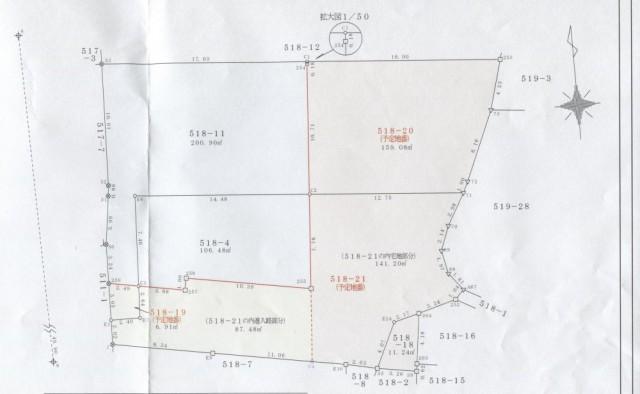 上田原測量図